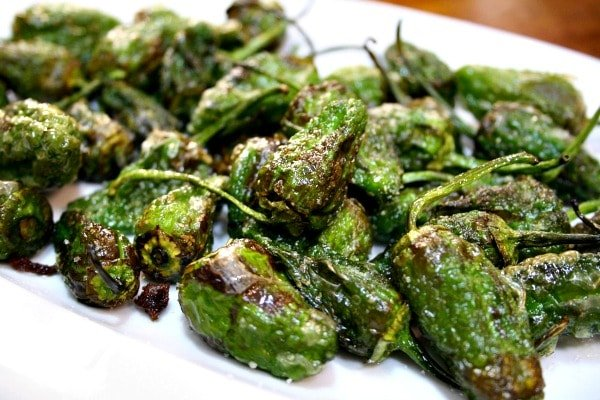 When looking for vegetarian tapas in Santiago, don't forget about the Padron Pepper! This regional favorite is delicious fried and served with salt. You have to be careful when eating them as most are mild but sometimes you get a really spicy one!
