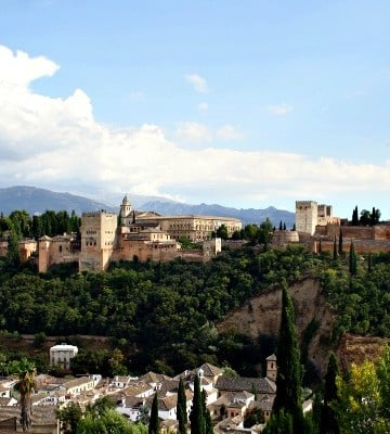 We love the views from the Mirador de San Cristóbal. If we had to choose where to propose in Granada, this would be it!