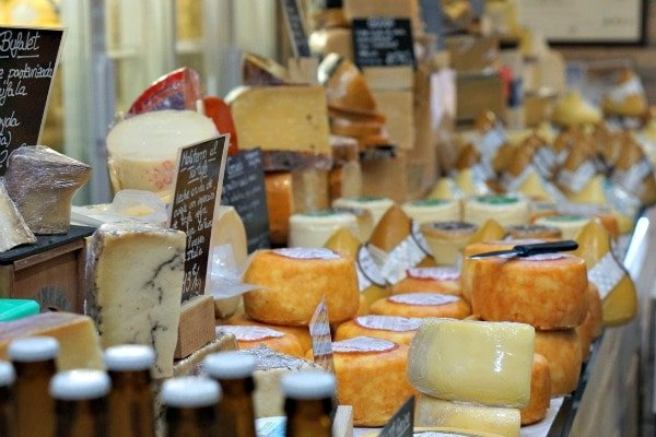 The Mercado de Abastos is one of the top things to see in Santiago de Compostela and home to plenty of delicious local products, like these cheeses!
