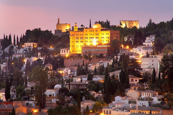 Hotel Alhambra Palace is home to one of the best rooftop bars in Granada.