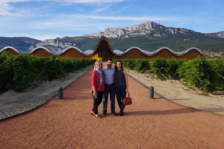 The impressive Ysios Bodega in La Rioja.
