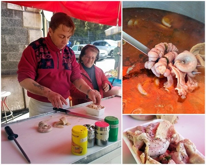 Tripe stew in Catania