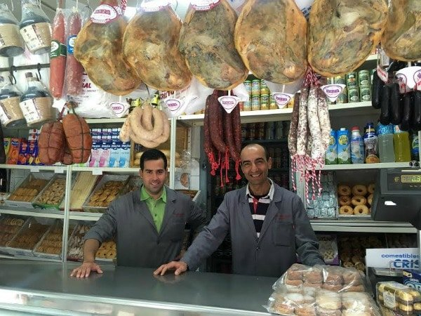 There's so much to eat at Comestibles Cristobal. Local hams, cheeses, sausages, sweets and more are some great edible souvenirs in Granada!