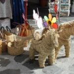 These hand woven straw items are just a few of many unique souvenirs in Granada and can brighten up your home.