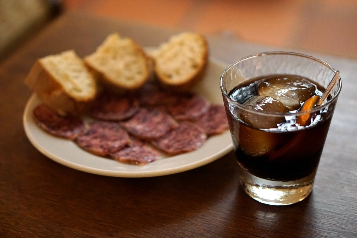 You'll find fortified wines like this vermouth, paired with delicious cured meats, in many of the wine bars in Granada.