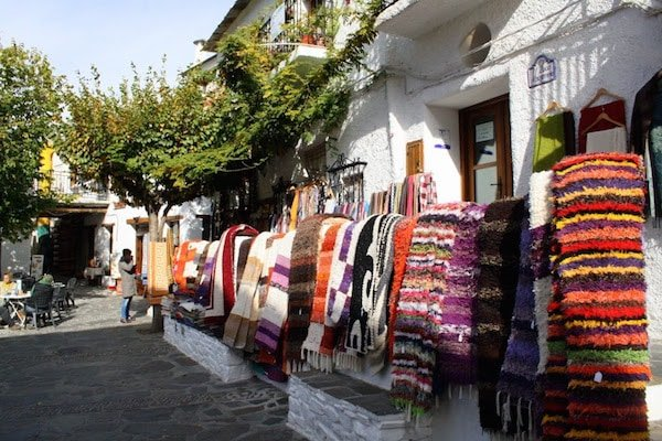 Granada's top markets aren't just for foodies. They're also a great place to find beautiful handmade products like these woven rugs.