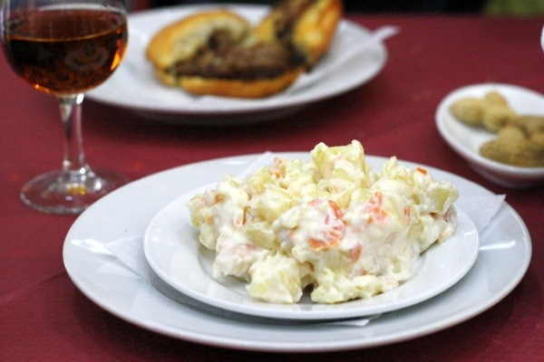 Try the famous ensaladilla rusa at Puesto 43, also one of the best places to eat seafood in Granada.