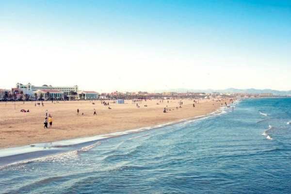 One of the best things to see in Valencia is Playa La Malvarrosa. We're up for a day at the beach!