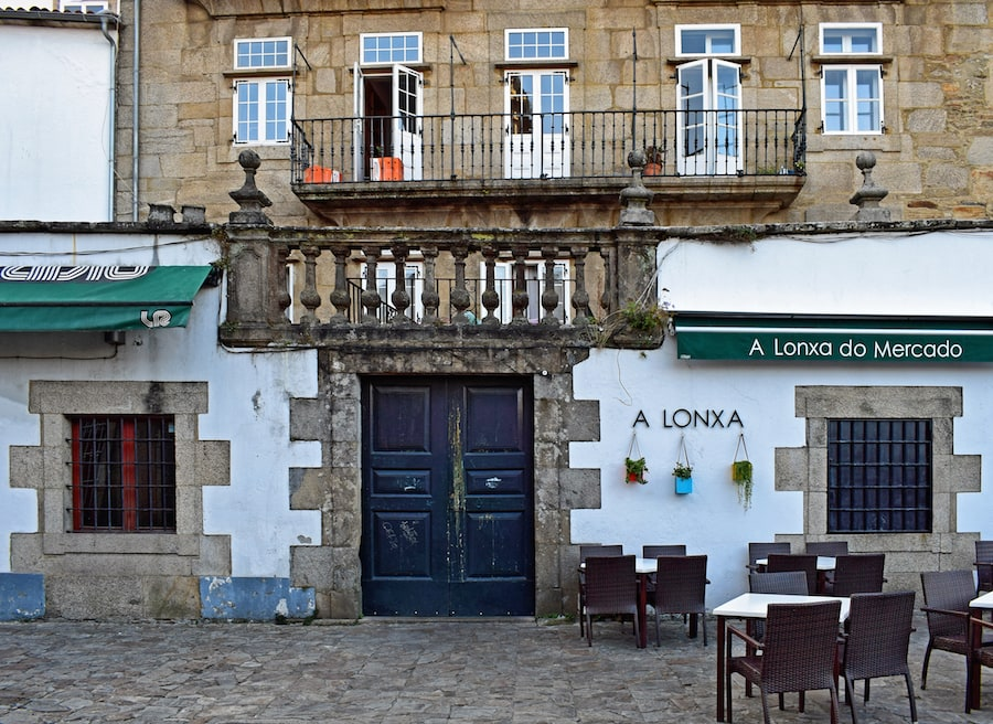 Some of the most charming terraces in Santiago de Compostela are found in hidden corners.