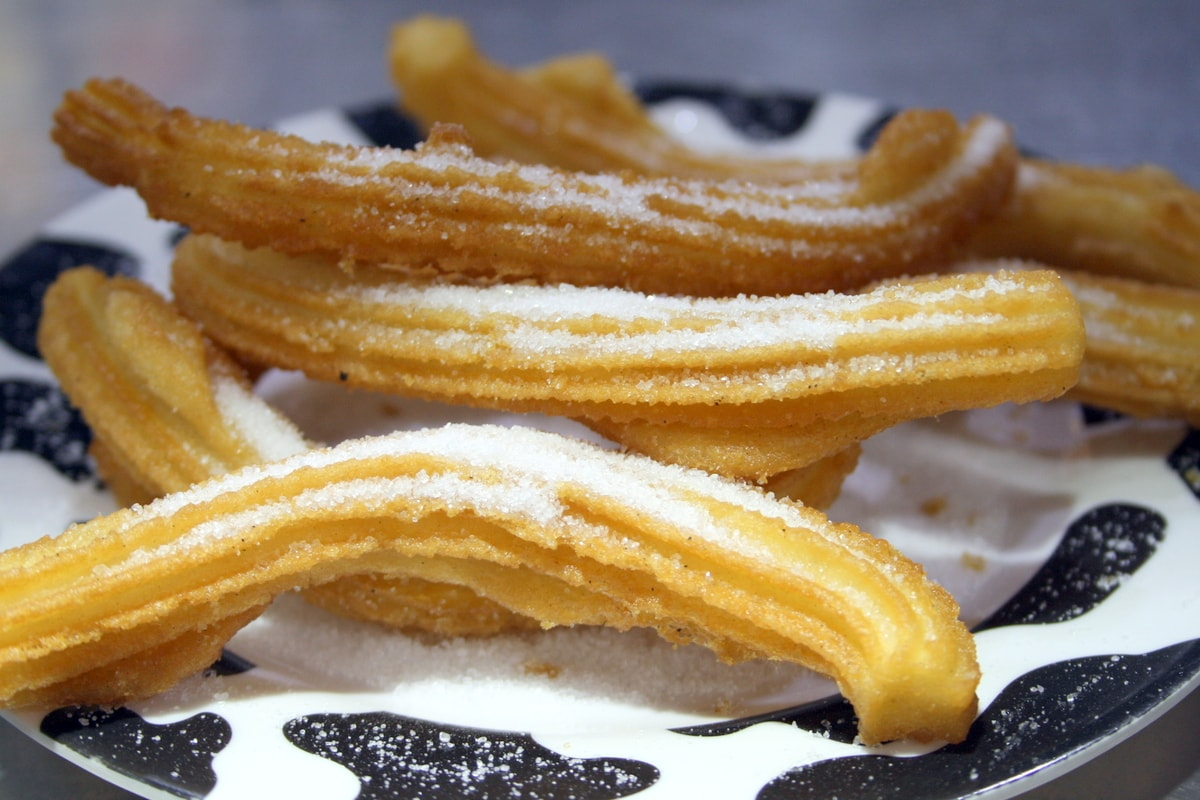 The best churros in Valencia are what you make of them, be it covered in sugar like these or dipped in chocolate or coffee!