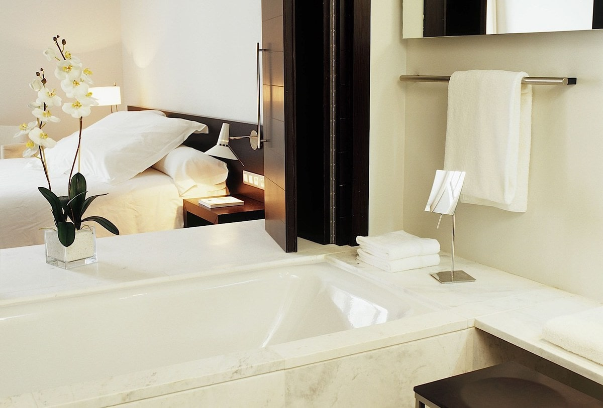 The boutique hotels in Valencia are stylish and clean, full of delicate creams, whites and wood surfaces - so beautiful!