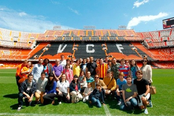 Visiting the Mestalla Stadium is one of the best kid-friendly activities in Valencia for soccer fans (and young players!).