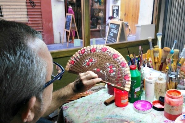 The beautiful fans at Abanicos Vibenca make one-of-a-kind souvenirs from Valencia.