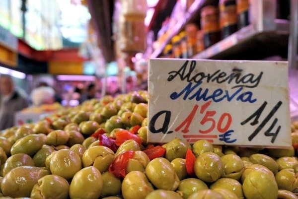 Locally produced aloreña olives are one of the best gourmet food gifts from Malaga!