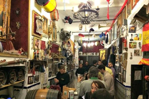 Eat like a local in Granada at a traditional tapas bar.