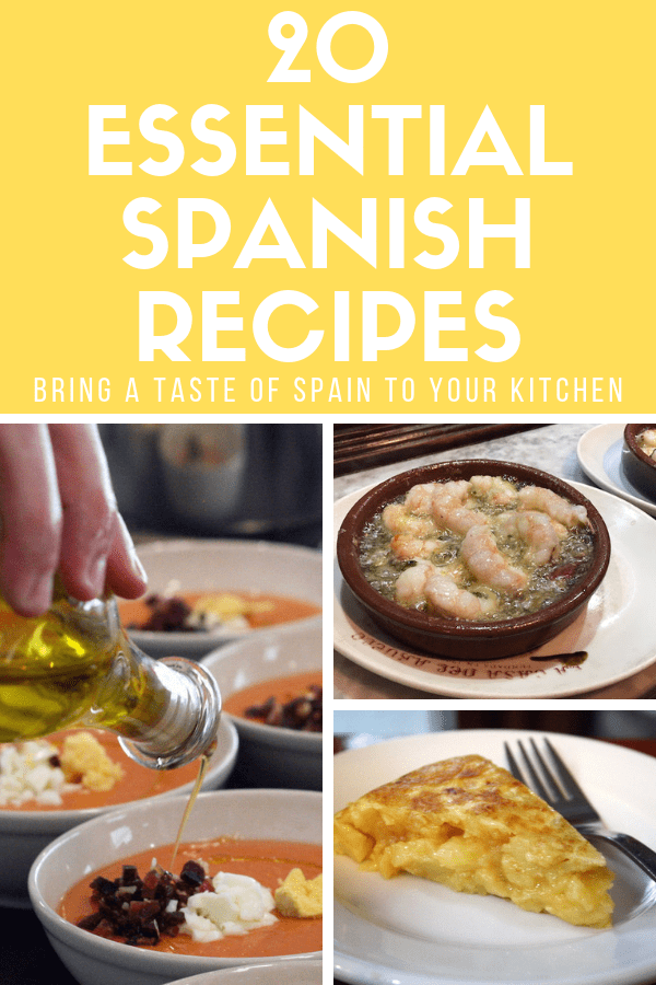 If you're wondering how to make authentic dishes from Spain, you've come to the right place. Here are 20 essential Spanish recipes, from appetizer ideas to tapas recipes to crowd-pleasing dinners and more. From the healthy, veggie-heavy options to sweet and indulgent desserts, it's all here—just be sure to serve these traditional meals with one of your favorite Spanish red wines! #Spain #foodie