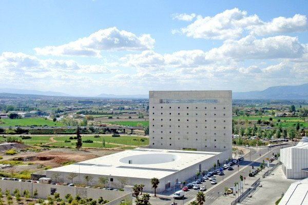 The Centro Cultural Caja Granada, housed in a spectacular modern building, is one of the most unique museums in Granada.
