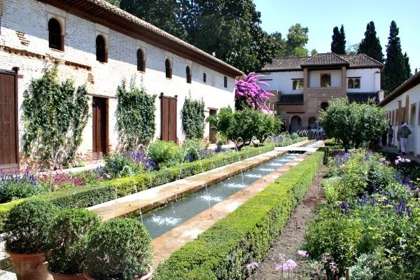The beautiful gardens inside the Alhambra are just one aspect of one of the top tourist attractions in Granada!