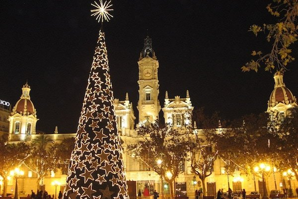 Valencia in winter is a wonderland of lights!