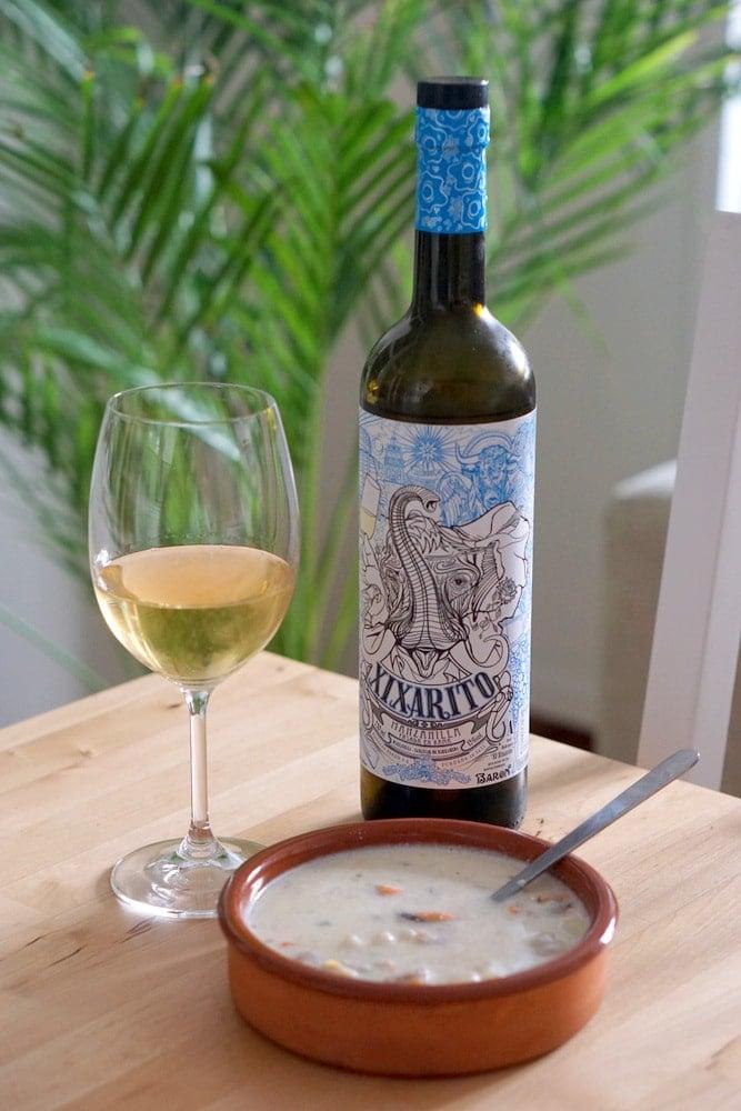 Iberian seafood chowder and manzanilla pasada!