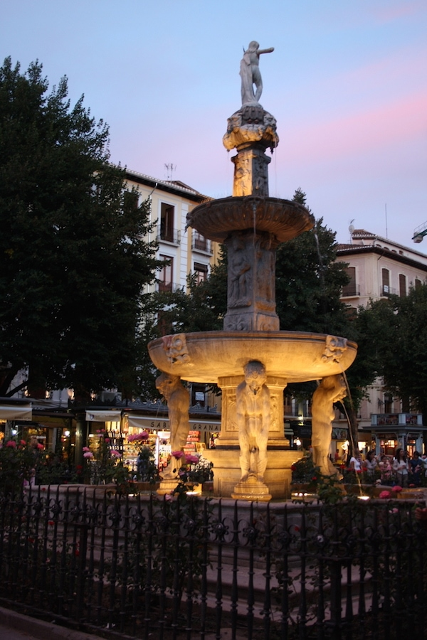 Be sure to visit the Christmas market in Plaza Bib Rambla while visiting Granada in winter!