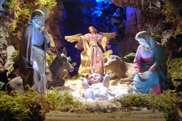 Christmas and New Year's Day in Santiago is the right time to visit traditional nativity scenes like this one! Many are in beautiful old churches too!