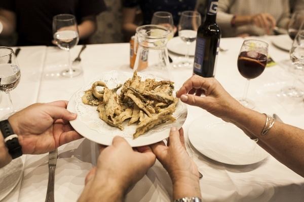 If you're wondering where to eat in Granada on Sundays, look no further than Bar Los Diamantes for the best fried fish in town!