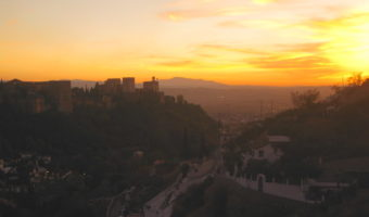 Catch the sunset in Granada from Sacromonte before heading to a flamenco show!