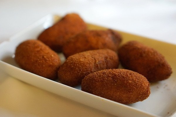 self guided tapas tour Seville - croquettes from Casa Ricardo