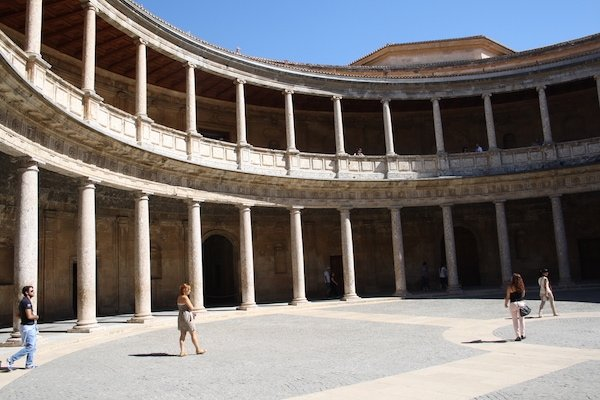 The Palace of Carlos V—and the Museo de Bellas Artes inside it—are two of the best things to do in Granada for free!