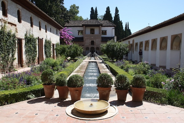 It's a classic, but one of the best parks in Granada is the Generalife inside the Alhambra. It's well worth the price of admission!