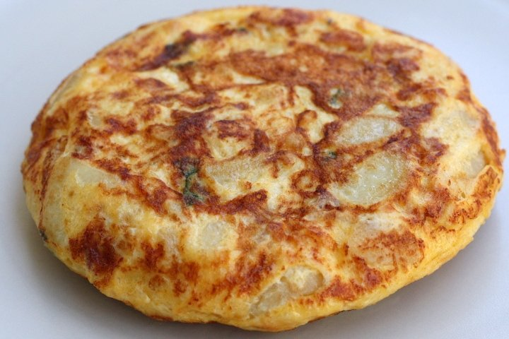Spanish tortilla recipes -- tortilla with ham and peas
