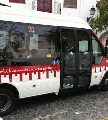 City buses are one of the most inexpensive and efficient means of public transportation in Granada.