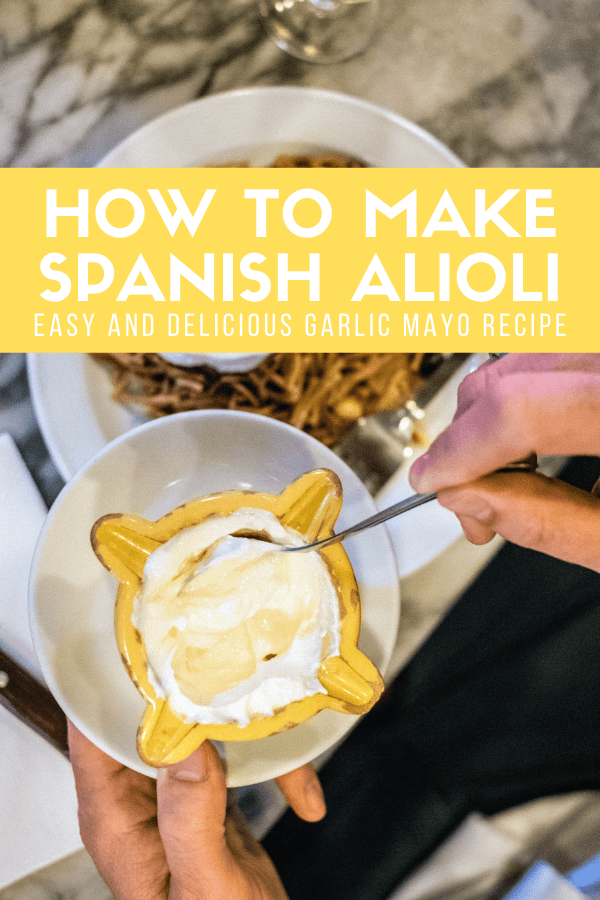 If you've been to Spain, you've probably tried alioli at a tapas bar or restaurant. This famous garlic mayonnaise is one of the most traditional accompaniments to some of the most common Spanish dishes, such as fideua (similar to paella) and it also makes a great dipping sauce. Get this easy and delicious Spanish alioli recipe here!