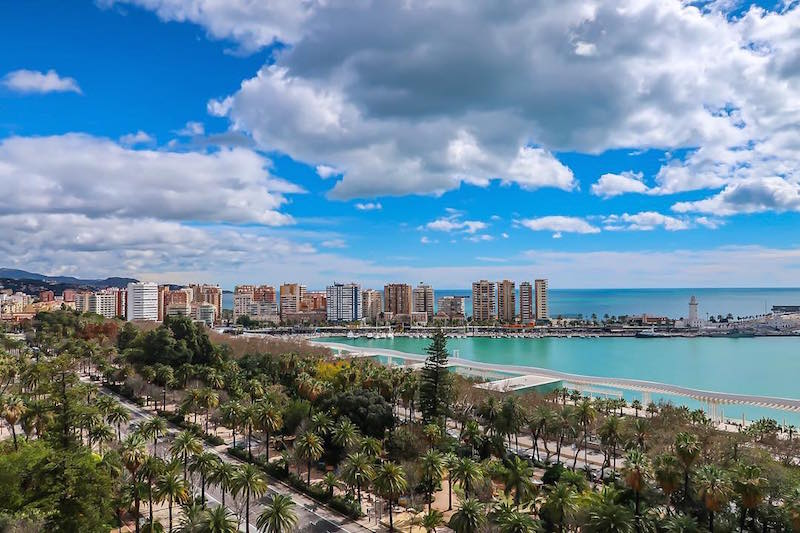 With this incredible rooftop view, it's no wonder why the AC Marriott is one of our favorite hotels with pools in Malaga!