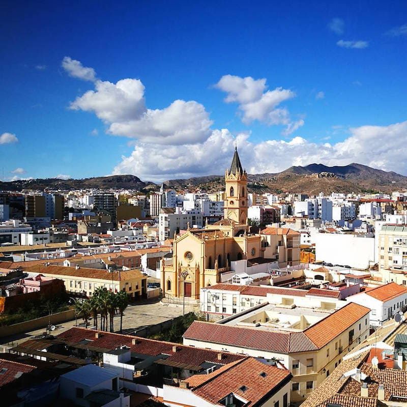 We love the views from Hotel Sallés Malaga Centro, one of the best hotels with pools in Malaga!
