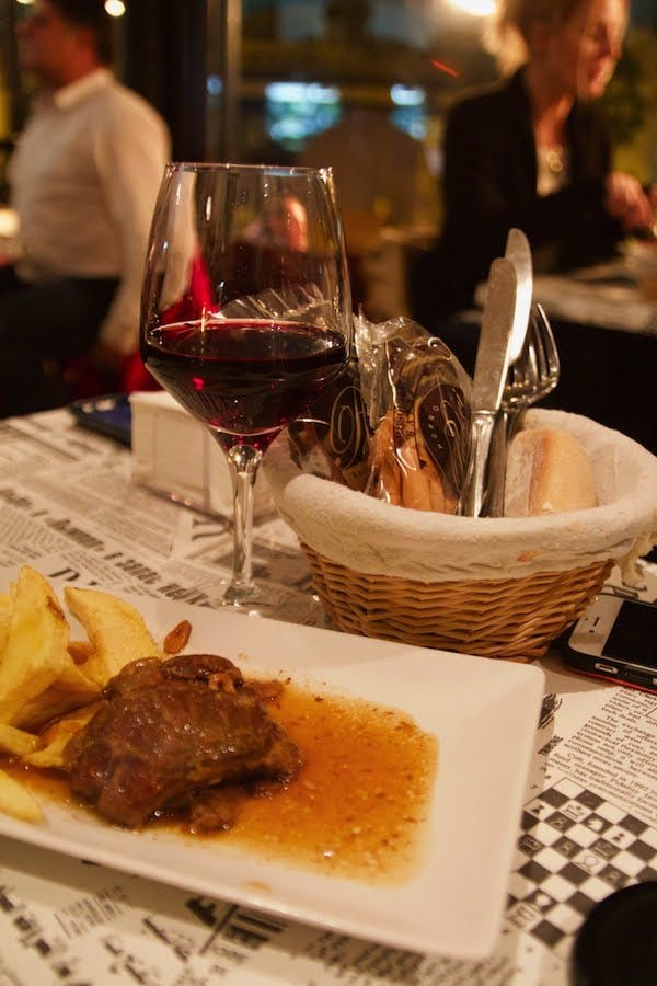 We love the incredible tapas and outstanding wine selection at La Tana, one of the best places to eat late in Granada!