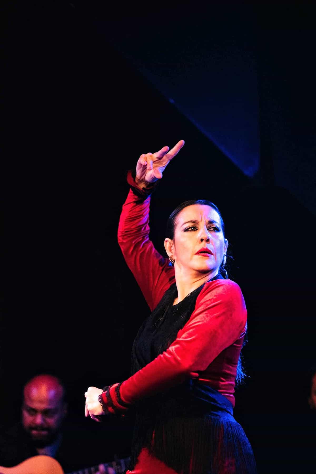 Flamenco dancer performing