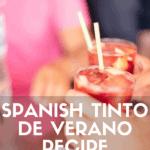 Tinto de Verano recipe pinterest image