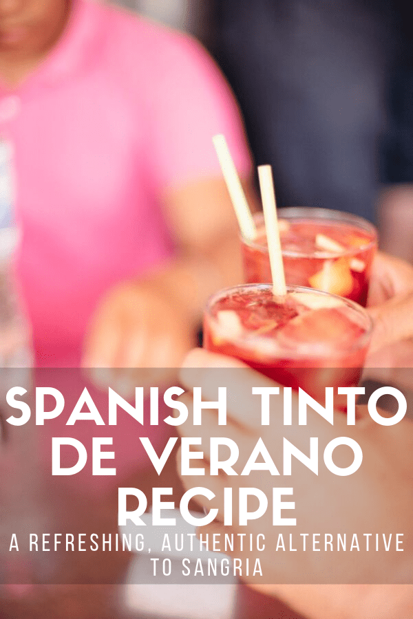 When you go out for tapas, there's nothing better to wash everything down with than tinto de verano. It's one of the easiest and most authentic Spanish drinks: just mix red wine and lemon soda! Here's a tried-and-true tinto de verano recipe that will have you sipping this classic bebida in no time. #Spain #drinks