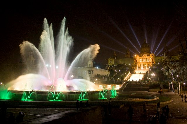 Montjuic Magic Fountain - 3 days in Barcelona