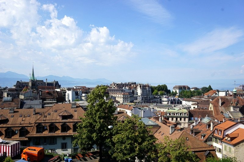 Gorgeous Lausanne and the Alps in the background