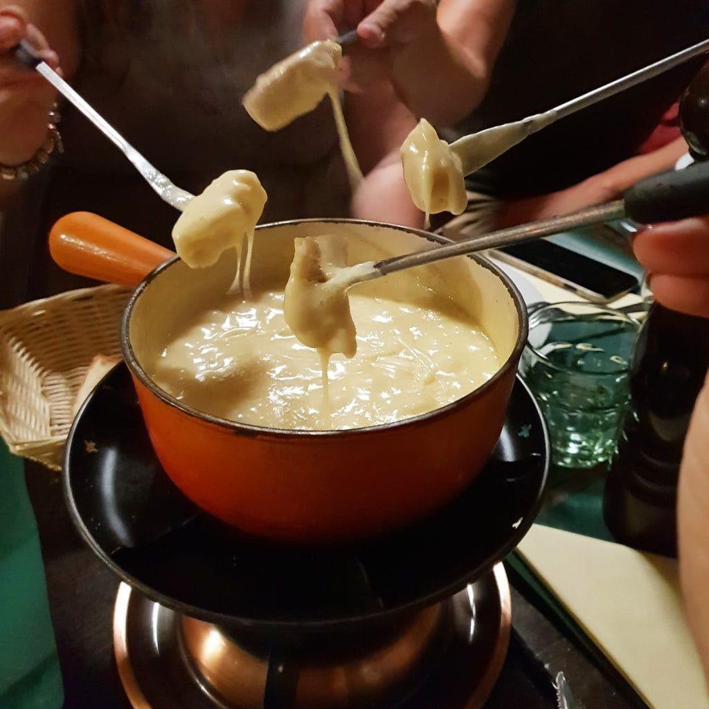 Delicious fondue at Le Pinte Besson