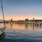 One of our favorite places to watch the sunset in Malaga is the stunning port area!