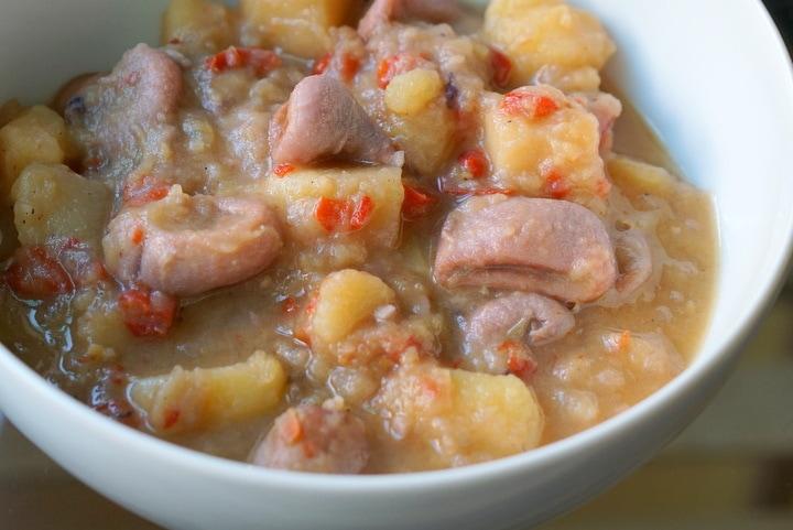 Traditional Spanish squid and potato stew recipe