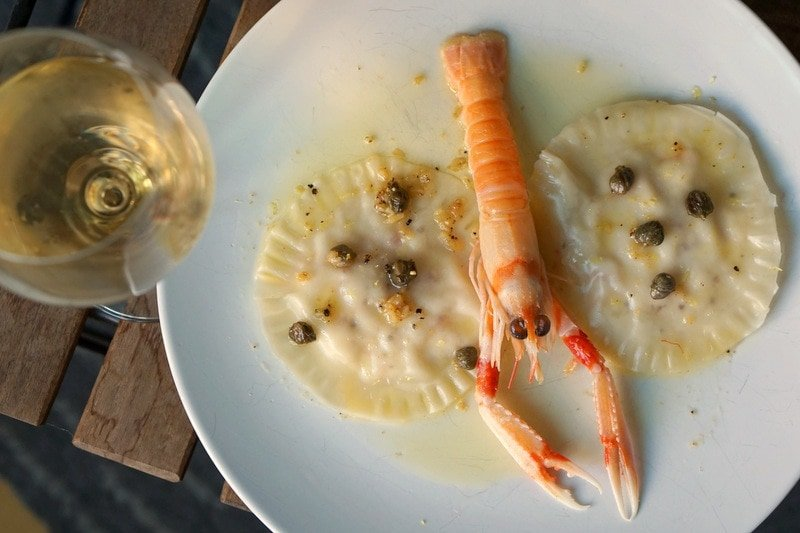 Prawn Ravioli with Lemon Caper Sauce - Pour and Pair - International Sherry Week