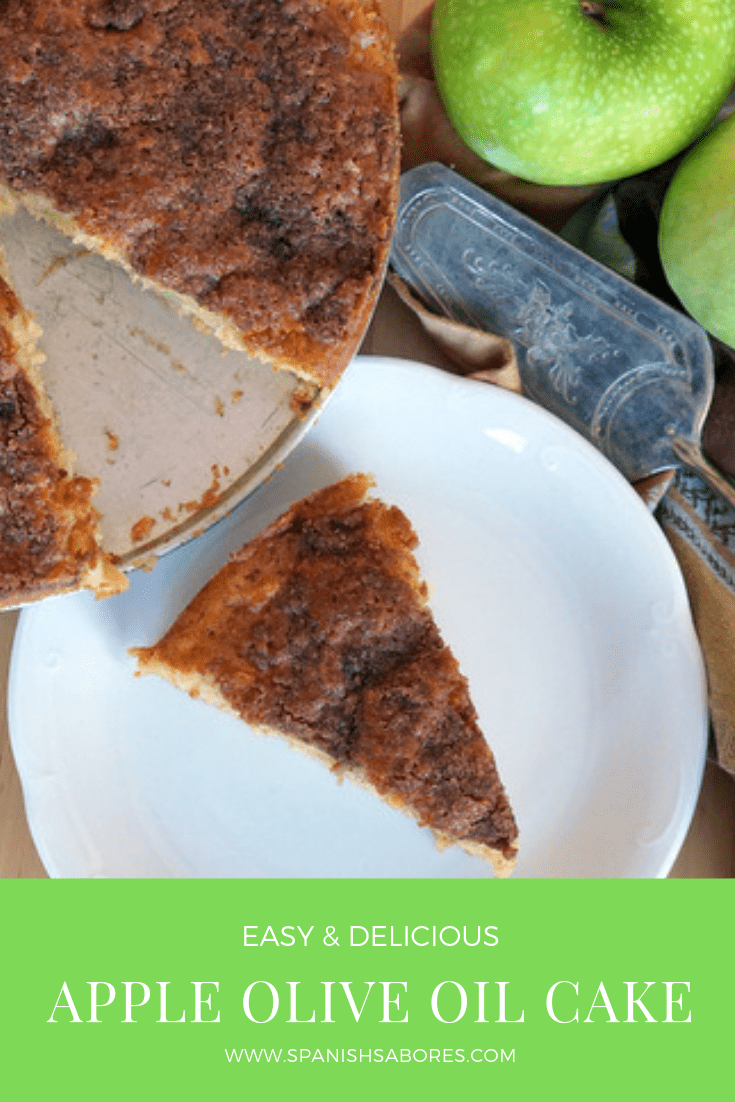 Apple Olive Oil Cake Recipe Pin