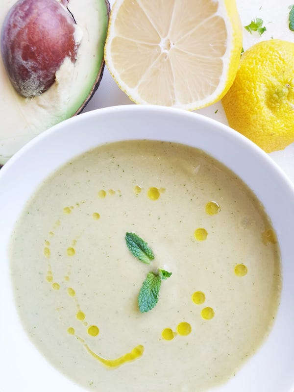 Delicious and healthy green gazpacho. My favorite cold Spanish soups.