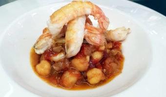Spanish shrimp and chickpea recipe