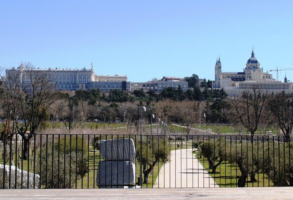 The mirador in Huerta de la Partida offers stunning views during your walking tour of Madrid.